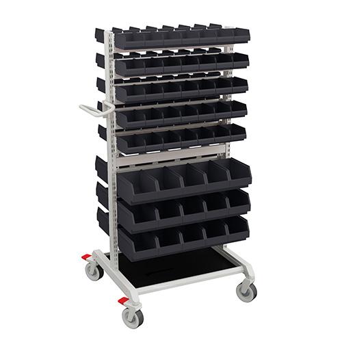 Sovella Nederland Treston basic trolley met opslagbakken en inhaakbare bakkenstrips
