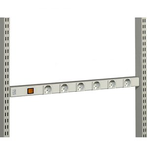 Sovella Nederland Treston energierail met 7 WCD's en schakelaar, 16A, 250v