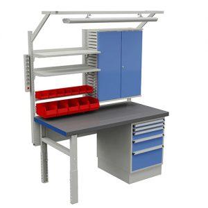 Sovella Nederland Treston HD werkbank compleet met verlichting en staal werkoppervlak