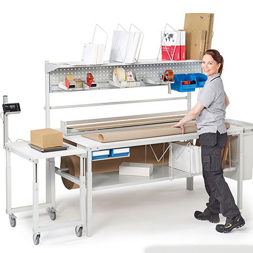 Sovella Nederland Treston logistieke werkplek en magazijn werktafel voor productie en webshops