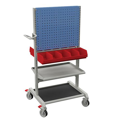 Sovella Nederland Treston basic trolley combinatie 2 met gereedschapsbord en opslagbakken voor in de werkplaats