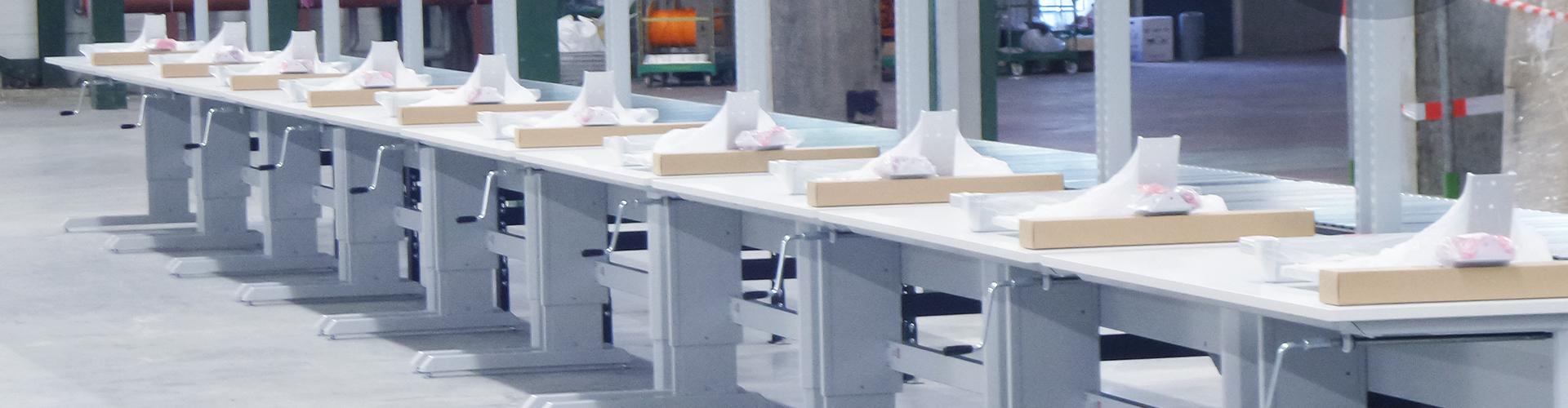 Sovella Nederland Treston logistieke werkplek voor webshops en ecommerce - logistieke werkplek - magazijn werktafel