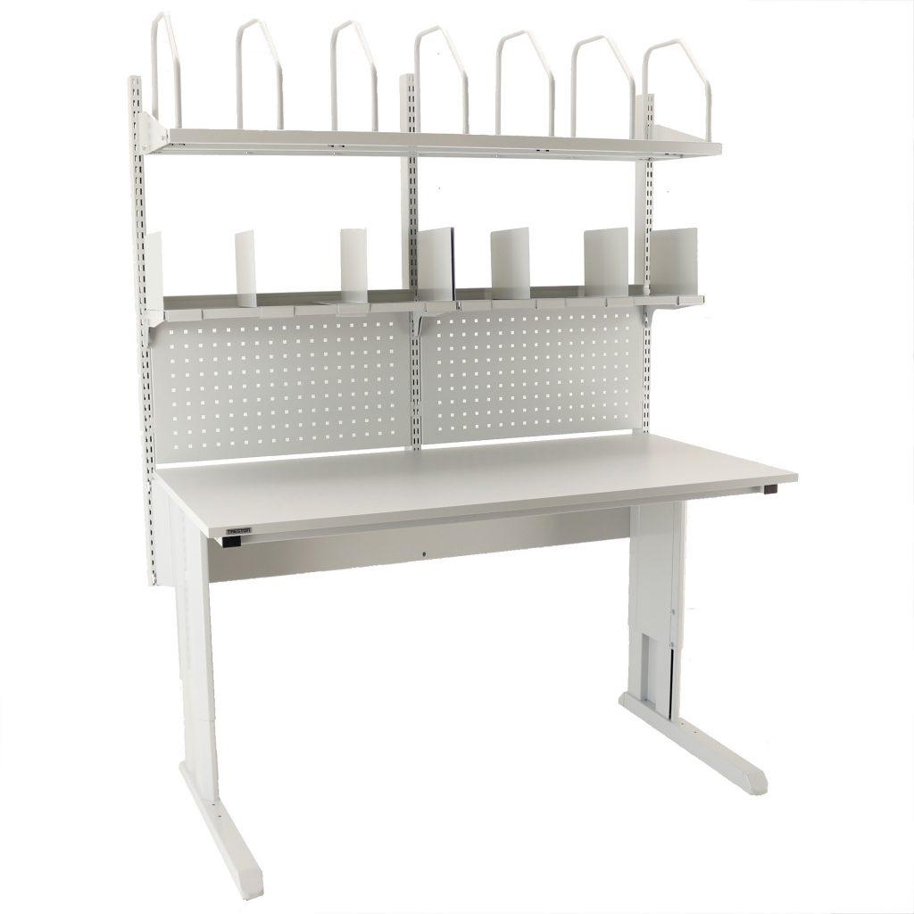 Sovella Nederland Treston inpaktafel met karton houder en vakkenkast modulair - logistieke werkplek - magazijn werktafel