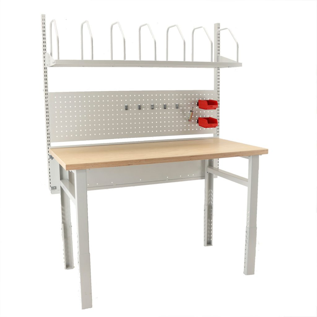 Sovella Nederland Treston inpaktafel met gereedschapsbord en kartonhouder - logistieke werkplek - werkplek magazijn