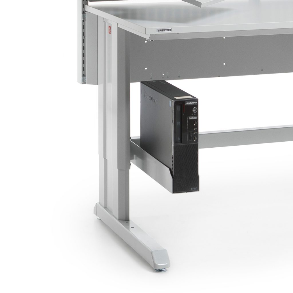 Sovella Nederland Treston computer en printerhouder onder een inpaktafel - magazijn werkplek - logistieke werkplek