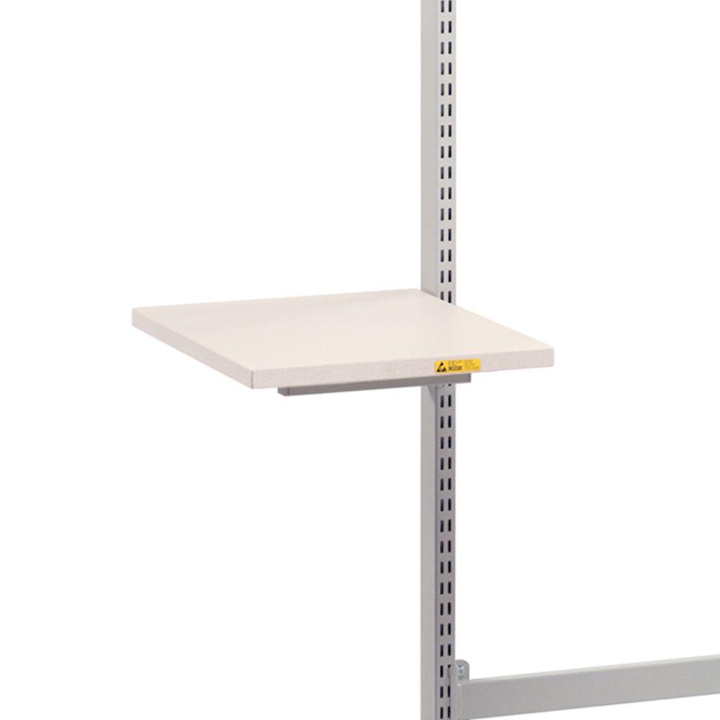Sovella Nederland Treston hulp tafelblad 500x400 aan een perfo zuil op een concept werktafel of inpaktafel - ook ESD-veilig