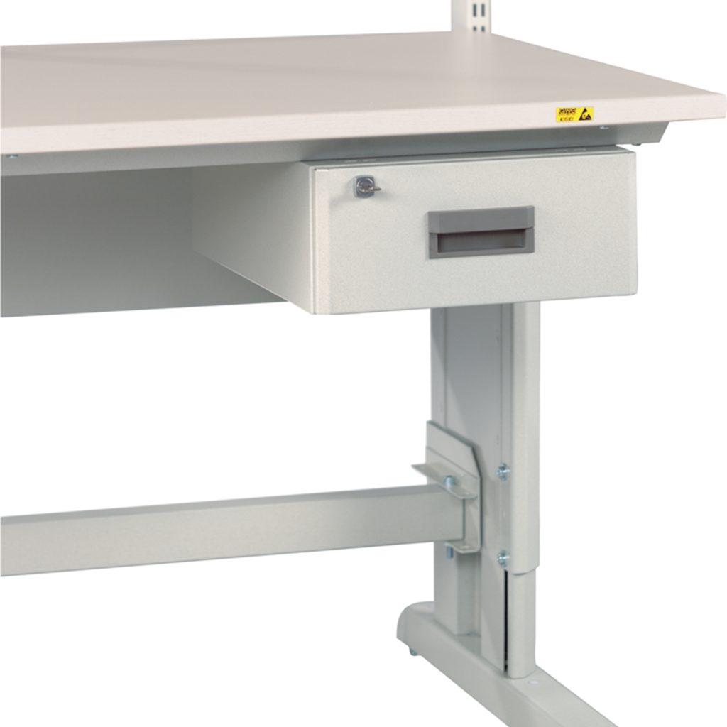 Sovella Nederland Treston enkele ladekast afsluitbaar onder een concept inpaktafel of werktafel magazijn logistiek ESD