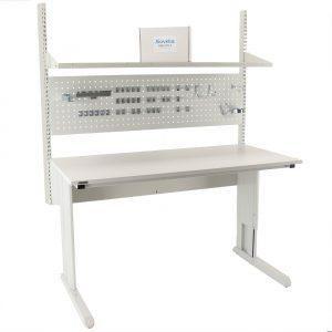 Sovella Nederland Treston concept werktafel met gereedschapsbord, hakenset en meetopstand ESD-veilig