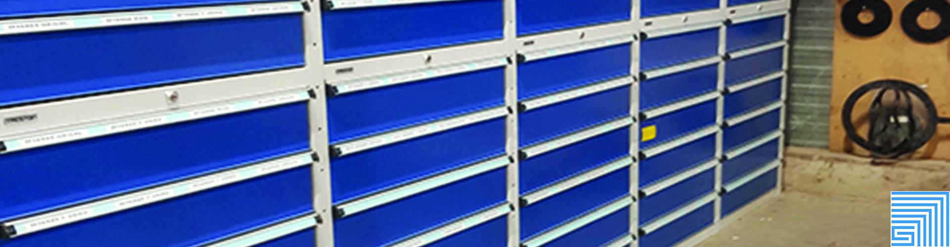 Sovella Nederland Treston opslagkast met laden voor kleingoed in de werkplaats