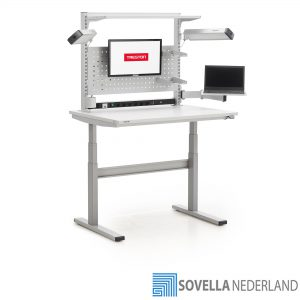 Treston Electronic Bench, TED op hoogte verstelbaar met opbouw - Sovella Nederland BV