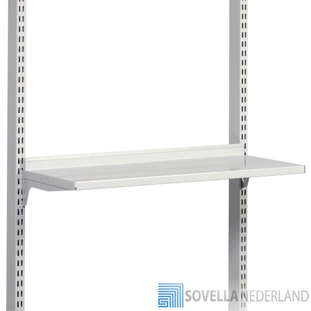Sovella Nederland Treston legbord inhaakbaar in perfo zuil voor op een werkbank