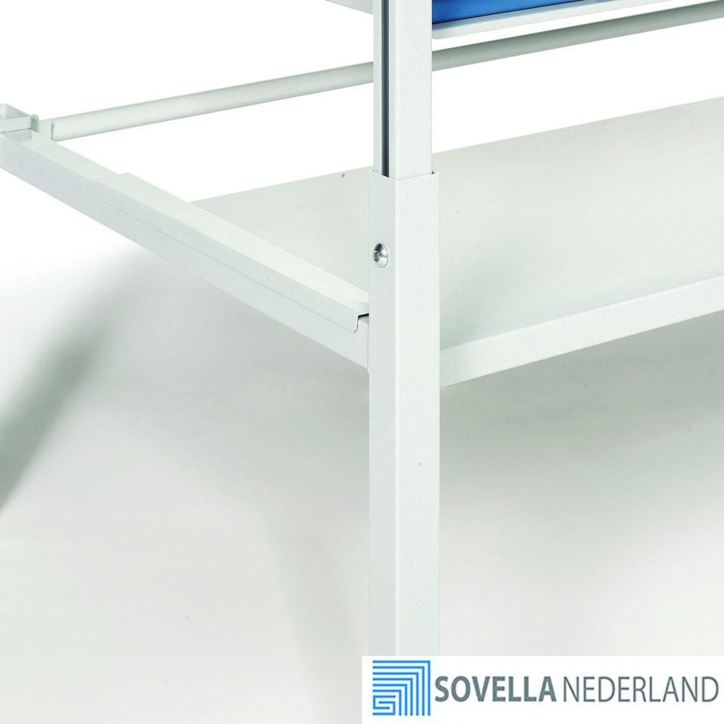 Sovella Nederland Treston Laag voetbord TP tafel staal voor onder inpaktafel of werktafel