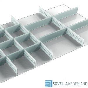 Sovella Nederland Treston lade indeling met stalen schotten voor in de werkplaats