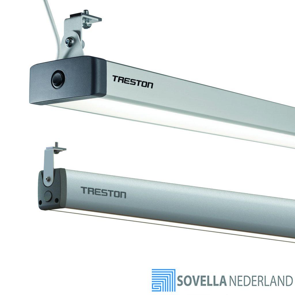 Sovella Nederland Treston werkplaats armatuur LED boven een werkbank