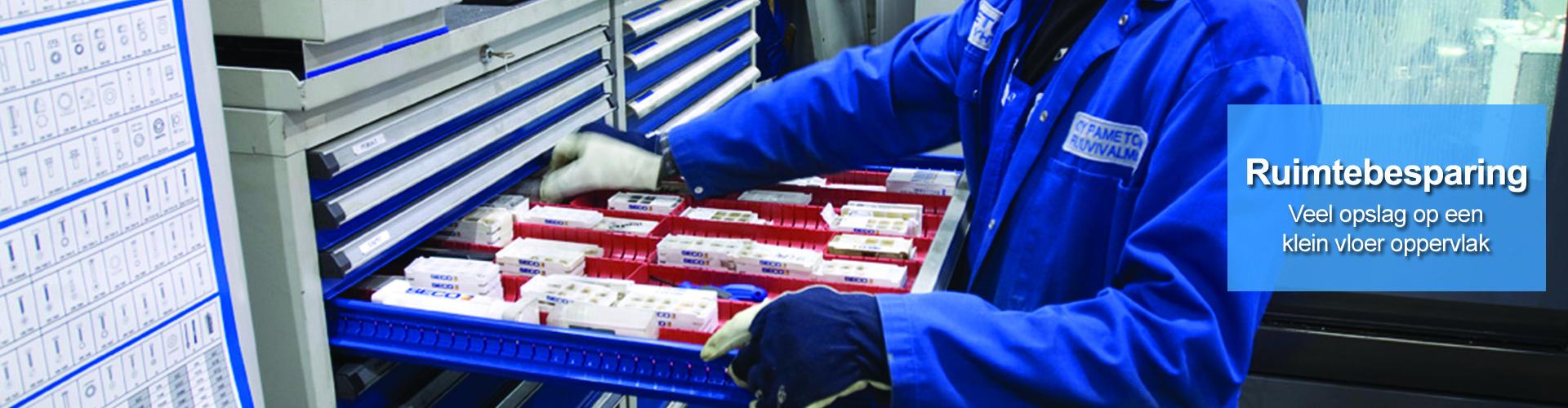Sovella Nederland Treston ladekasten ruimtebesparend in de werkplaats
